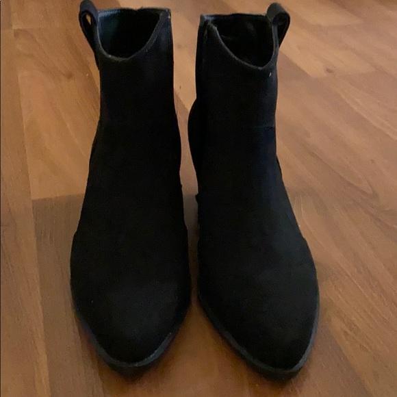 Boohoo Shoes   Black Western Boots